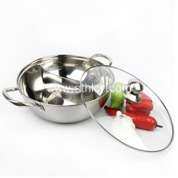 Thickened Two-flavor Hot Pot Set With Lid