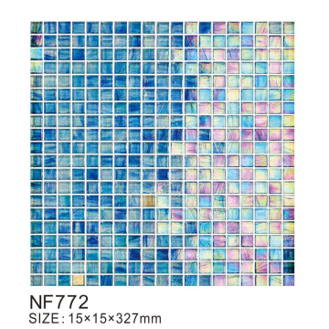 Molten glass modern mosaic tiles