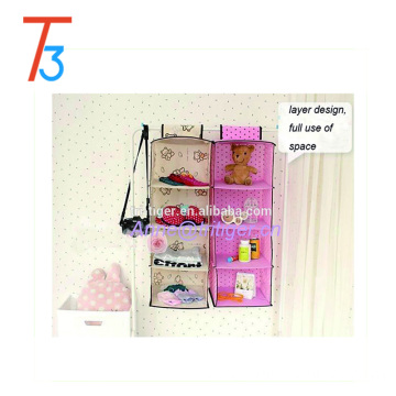 Folding hanging fabric wardrobe closet clothes closet organizer