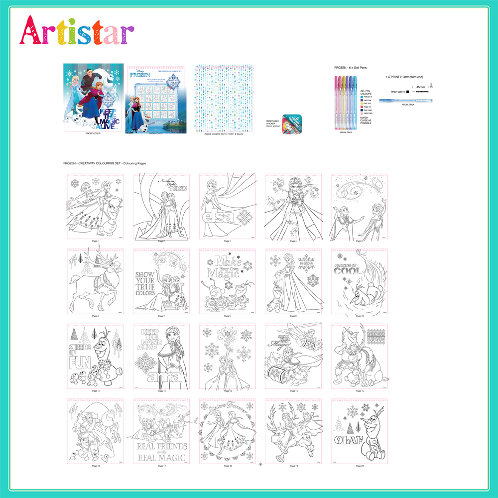 Disney Frozen Creative Colouring Set 2