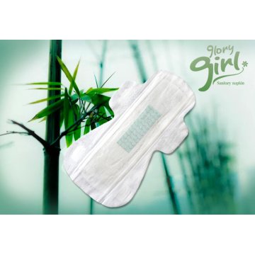 Breathable regular ultra sanitary pads with bamboo fiber