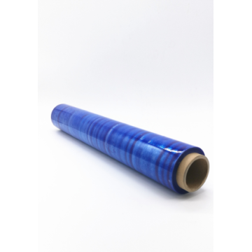 Blue 2 inch transparent stretch film wrap roll