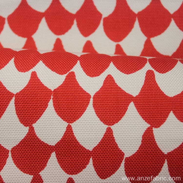 Custom Printed Red 100 Cotton Canvas Fabric for Curtain