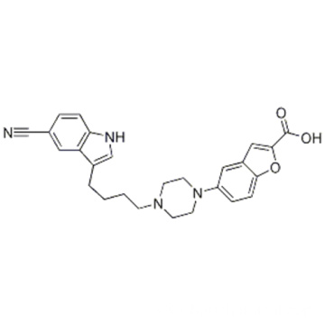 5-[4-[4-(5-cyano-1H-indol-3-yl)butyl]-1-piperazinyl]-2-Benzofurancarboxylic acid CAS 163521-19-5