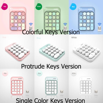 AK18 2.4G Colorful Key Wireless Number Keyboard,Portable Cute 18-Round Key Financial Numeric Keypad Keyboard for Laptop,Notebook