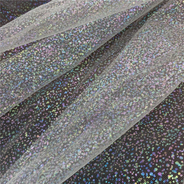 Iridescent Foil Spots Tulle Fabric for Girl's Dress