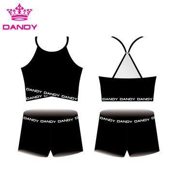 Oanpassing Lege Cheer Crop Tops En Shorts