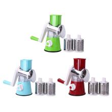 Multi-functional Manual Rotating Grater Round Mandoline Slicer Chopper Vegetable Cutter Stainless Steel Kitchen Accessories