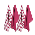 Cotton Dish Towels with Decorative Fringe