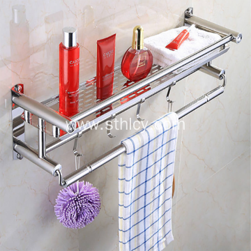 New Design Household Bathroom Stainless Steel Towel Shelf