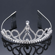 Hot Crystal Princess Tiara Wedding Crown