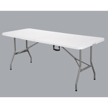 a variety of folding tables in different sizes