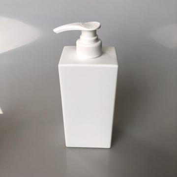 420ml white HDPE square bottle with lotion pump