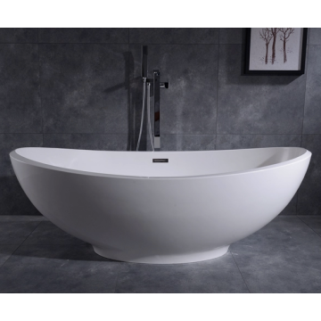 Acrylic Elliptical Bowl Bathtubs Free Standing