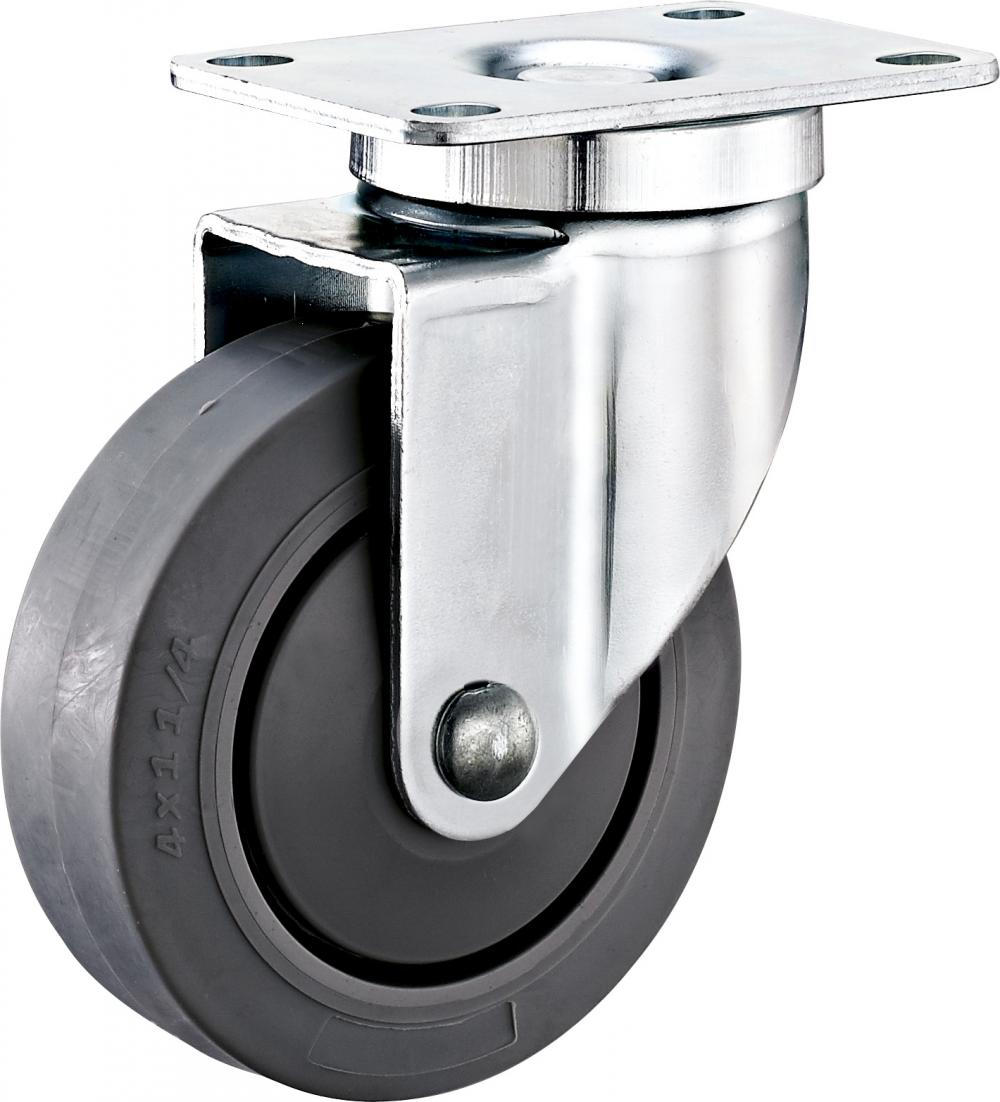 3inches Plate Swivel Industrial TPR Wheel Caster