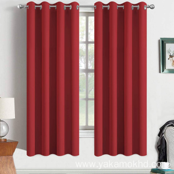 Red Blackout Curtains 63 Inch Long