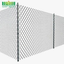pre-slatted wholesale galvanized used chain link fence