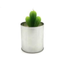 Home decoration artificial green plants candle