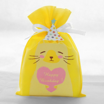 Birthday Series Yellow Cat Gift Bags