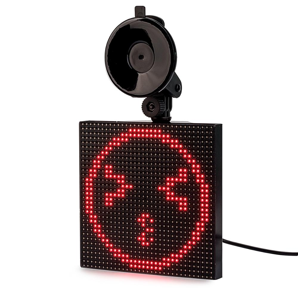 12V Bluetooth Wireless CAR led Sign APP Control RGB Programmable Scrolling Message LED Display Board Screen Drop shipping GIFT