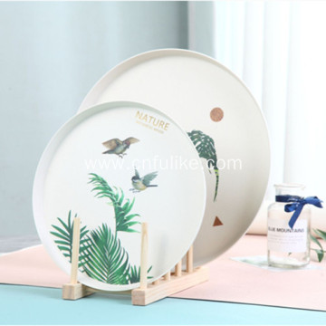 Round Bamboo Plates Plastic Plate Design
