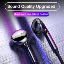 EARDECO Quad-core Mobile Wired Headphones 3.5 Sport Earbuds with Bass Phone Earphone Wire Stereo Headset Mic Music Earphones