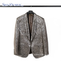 Dance leopard print soft mens stylish blazers suit