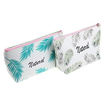 TROPICAL LEAF PU PENCIL CASE-0