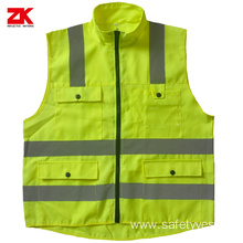 Oxford multi-pockets safety reflective jacket