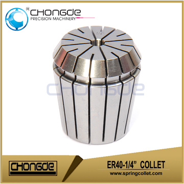 "ER40-1/4"" Precision Collet Clamping Range 0.250"" - 0.210"""