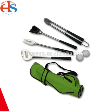 6pcs Plastic Handle Golf Bag Grill Accessories Set