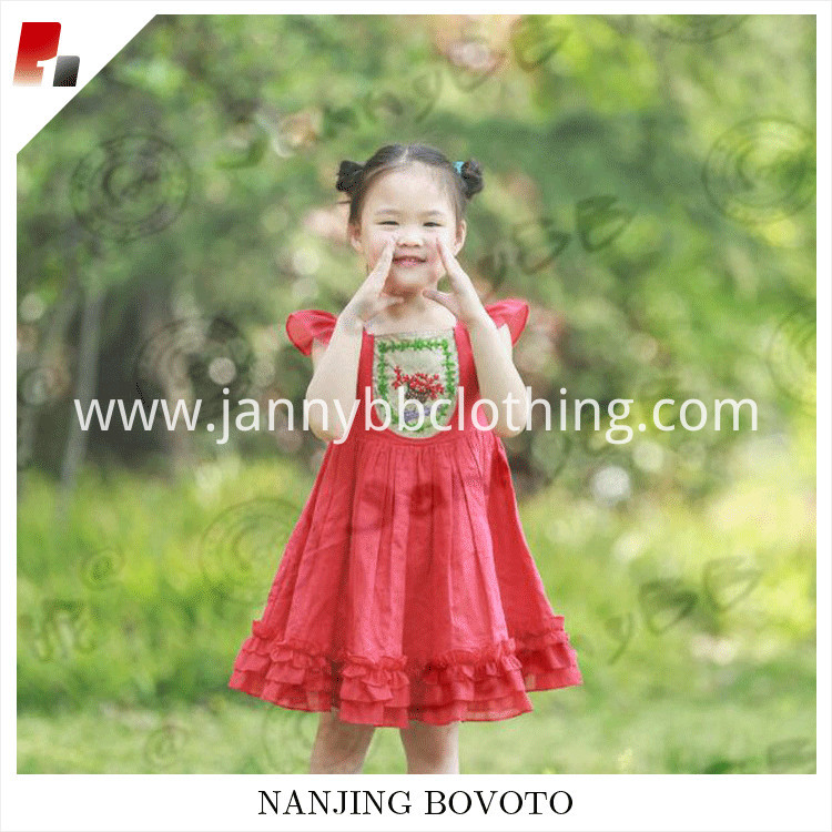red embroidery dress04