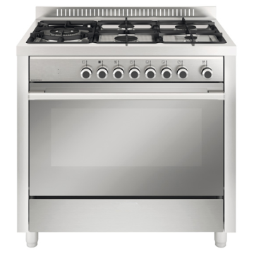 Gas Oven Grill with Gas Cooker 5 Burners