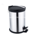 Hotel Open Foot Pedal Stainless Steel Garbage Can