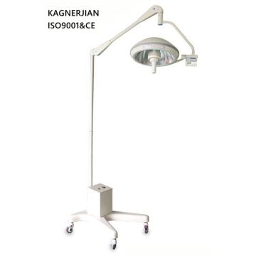 Battery powered floor standing operating room lamp