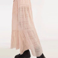 Loose Waist Summer Pleated Tennis Long Skirt
