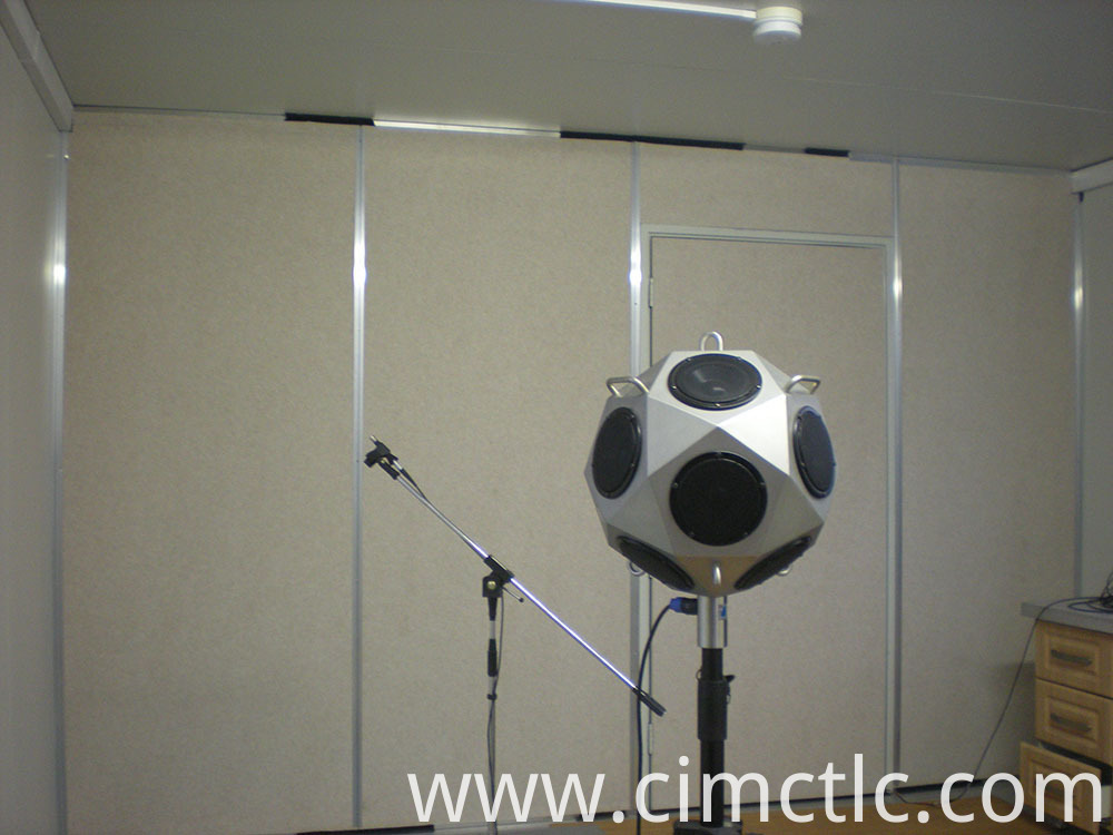 Acoustic test for Modular Recreation Room Flatpack Type
