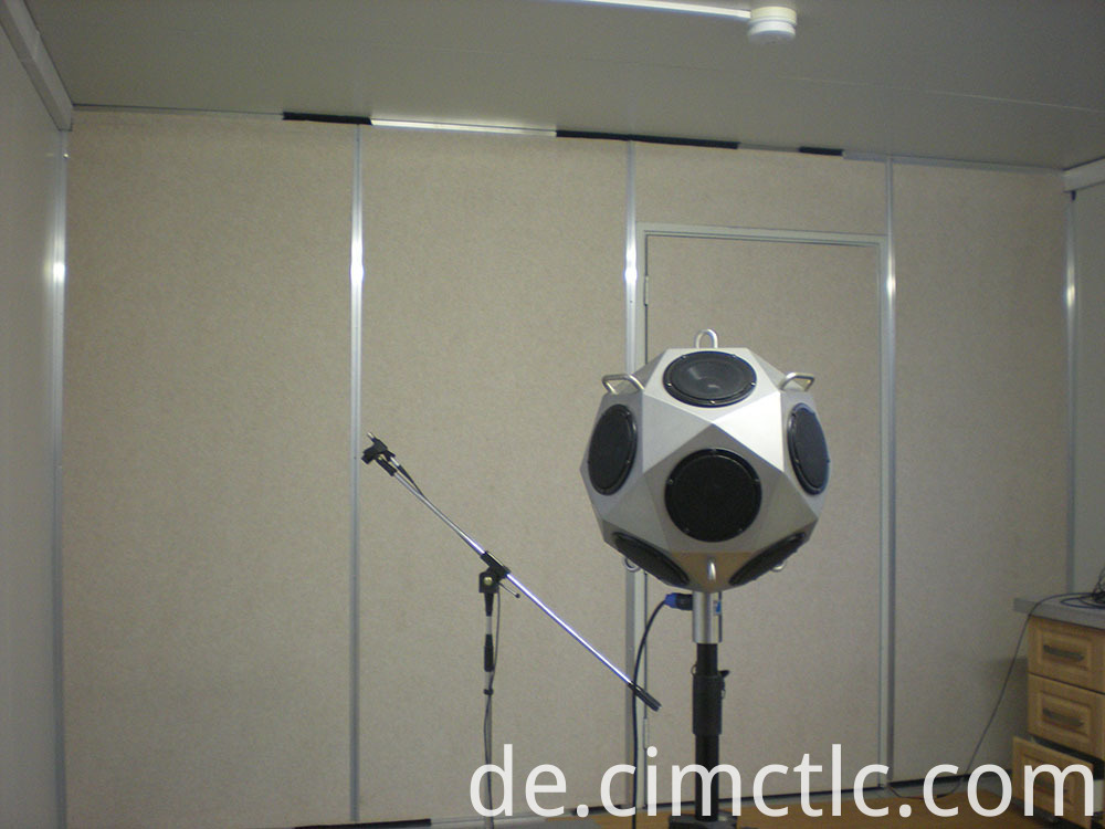 Acoustic test for Modular Meeting Room Flatpack Type
