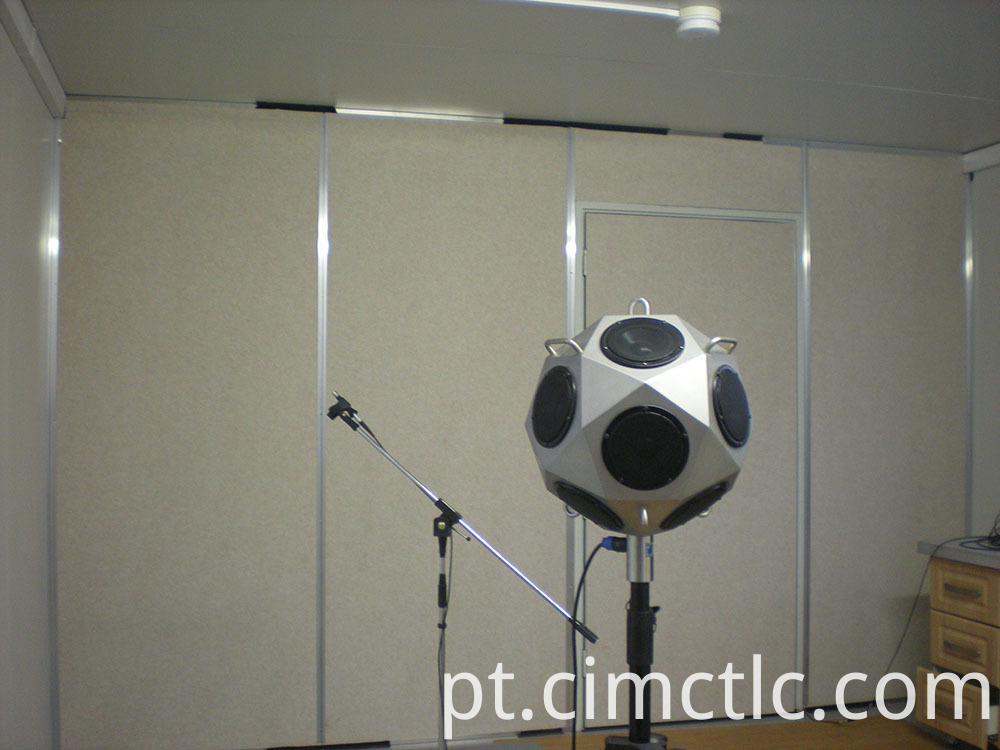 Acoustic test for Modular Gym Room Flatpack Type