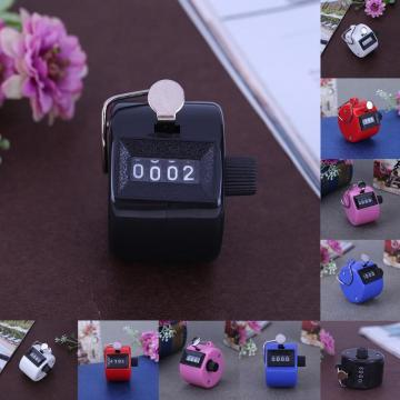 Counter 4 Digit Number Counters Plastic Shell Hand held Finger Display Manual Counting Tally Clicker Timer Golf Points Clicker