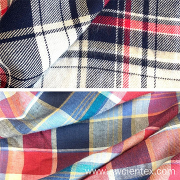 100% Rayon Yarn Dyed Brushed Winter Shirts Fabrics