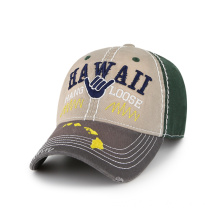 Souvenir baseball cap with thick and triangle stitches