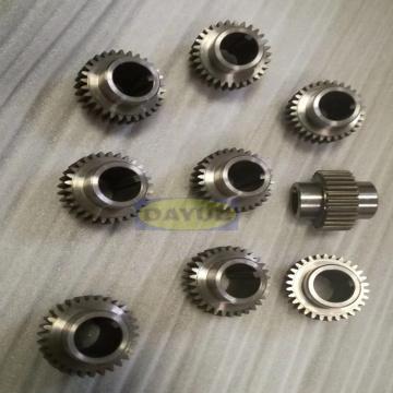 Gears and gear shafts machining for elevator transmission