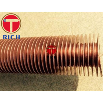 Serrated Finned Copper Pipe for Air Cooler
