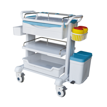 Hospital treatment trolley ABS plastic hand nursing cart