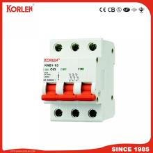 KORLEN new type KNB1-63  Mini circuit breaker 1-63A MCB with CE CB SEMKO IEC/EN60898