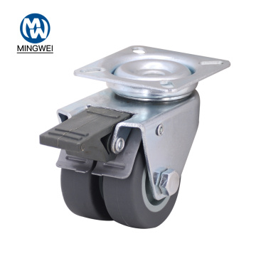 Double Wheel 2 inch TPR Caster Wheels