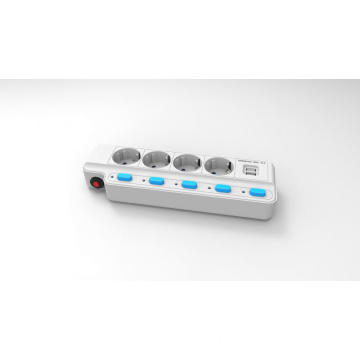 Korea KCC 4 ways extension socket with USB