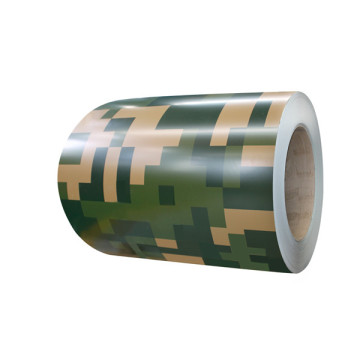 Camouflage color coated aluminum coil