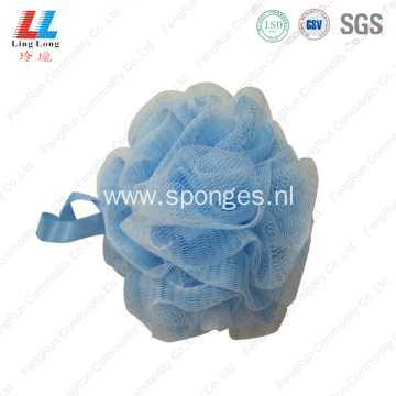 Double mesh effective shower sponge ball